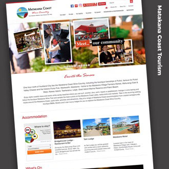 Matakana Coast Tourism - On.Works Web Design Project