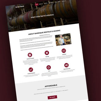 Barrique Rentals - On.Works Web Design Project