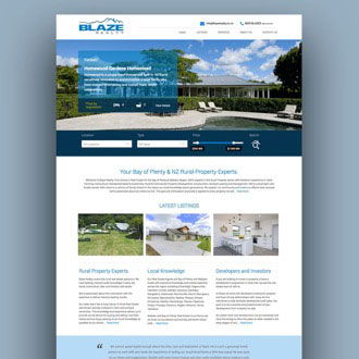 Blaze Realty - On.Works Web Design Project