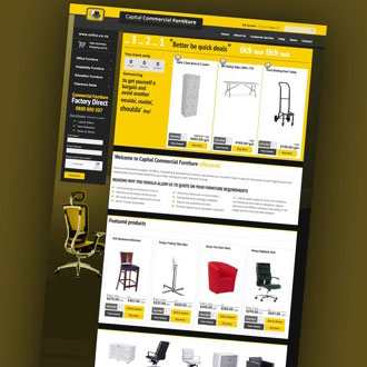 Capital Commercial Furniture - On.Works Web Design Project