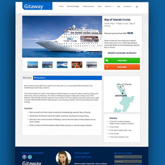 Gitaway Travel - On.Works Web Design Project
