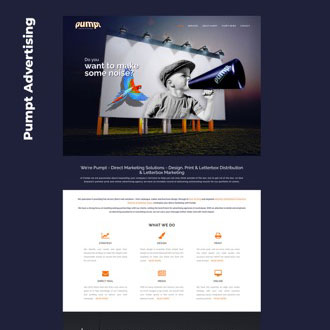 Pumpt Advertising - On.Works Web Design Project