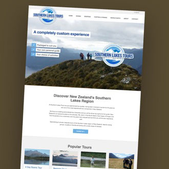 Southern Lakes Tours - On.Works Web Design Project