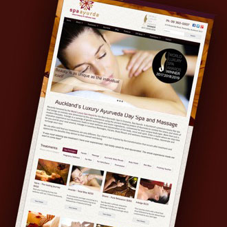 Spa Ayurda - On.Works Web Design Project