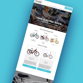 Think Electric Bikes - On.Works Web Design Project